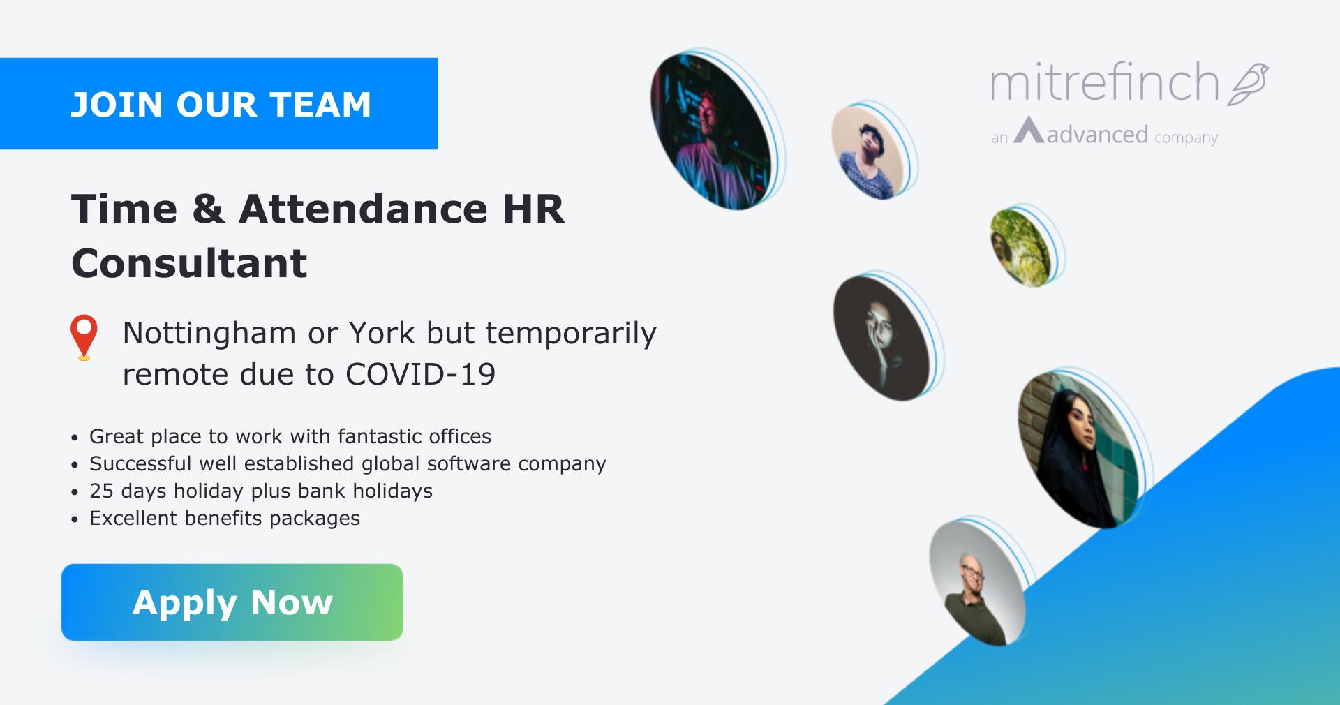 Time & Attendance HR Consultant   Mitrefinch