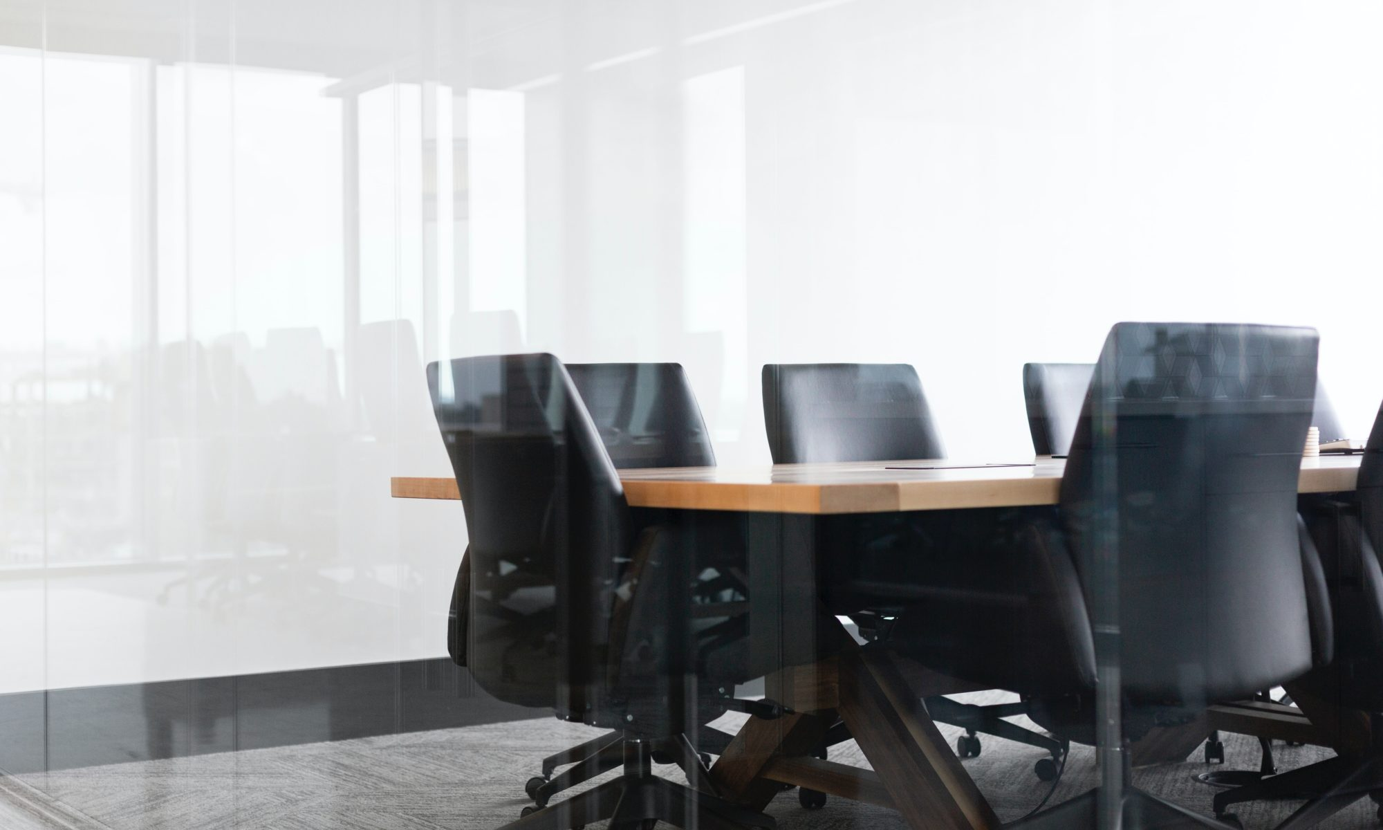 An image of an empty boardroom