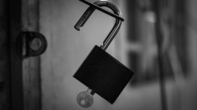 open lock and key